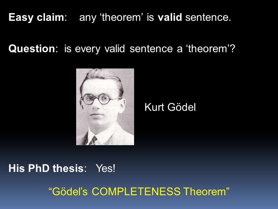 Gödel's COMPLETENESS Theorem