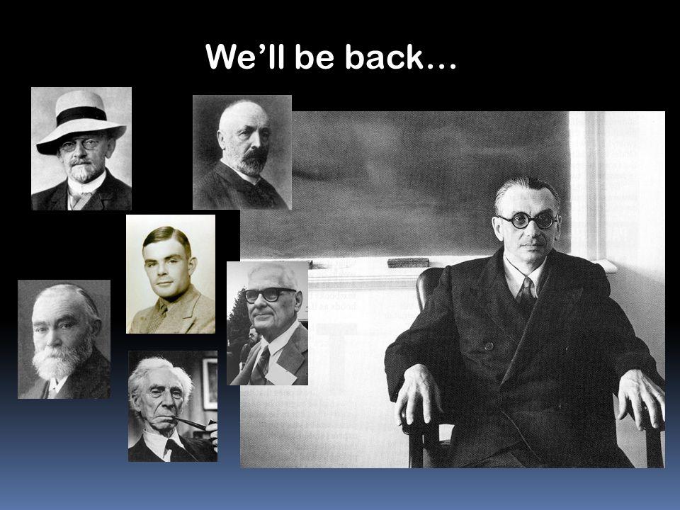 We'll be back…