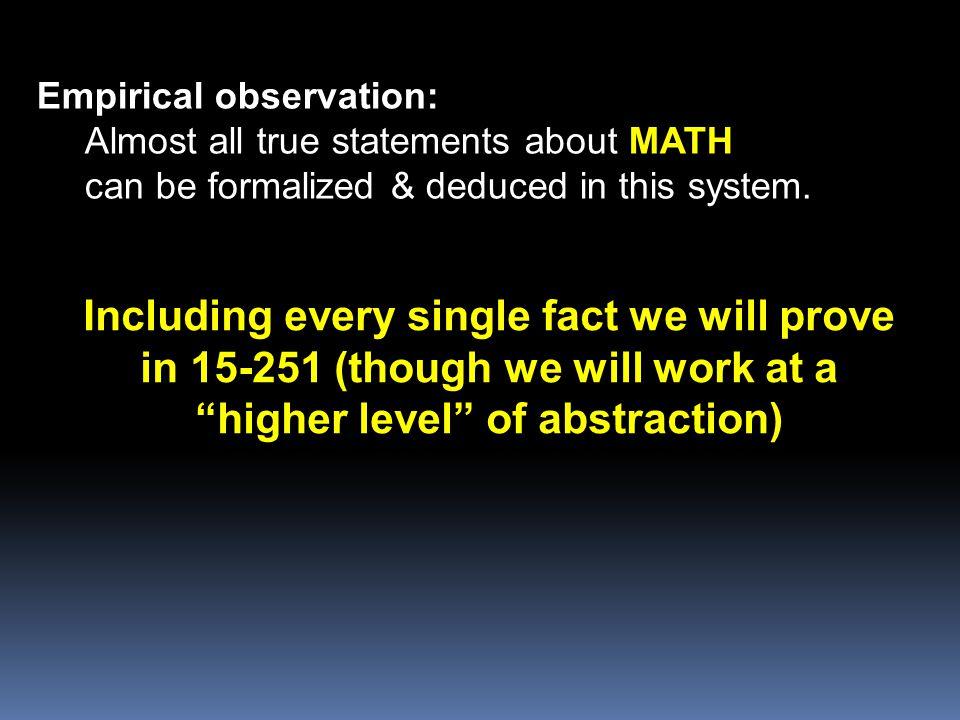 Empirical observation: