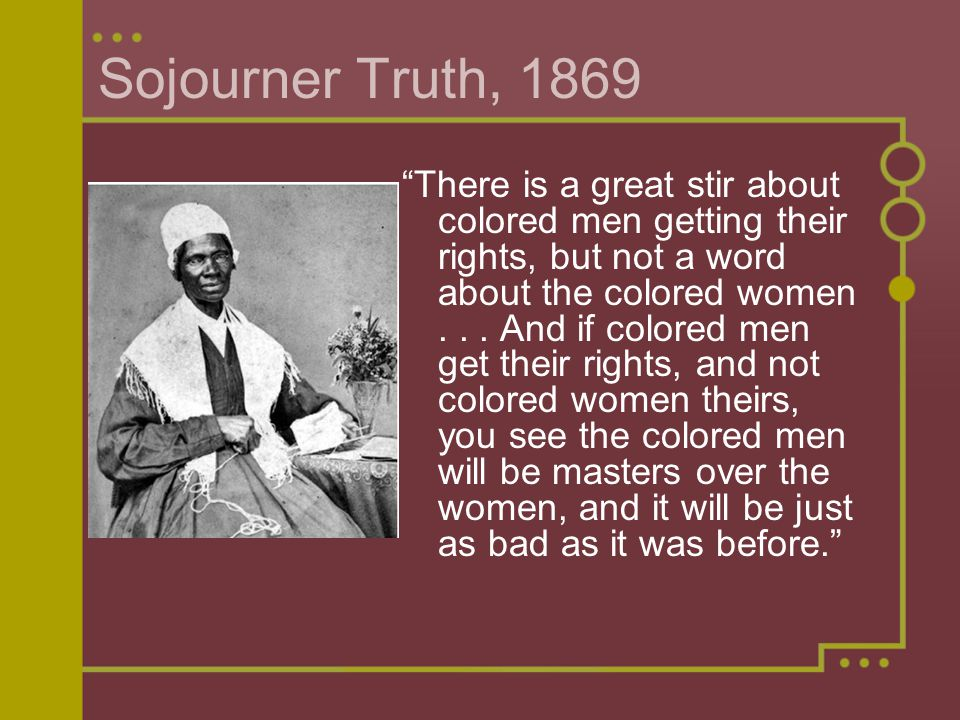 Sojourner Truth, 1869