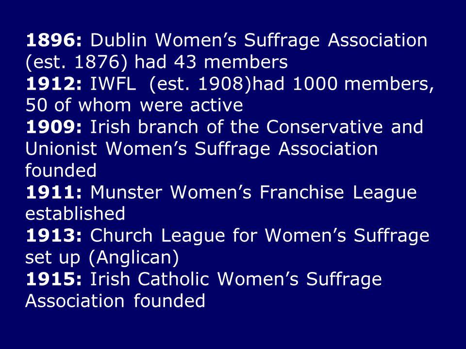1896: Dublin Women's Suffrage Association (est