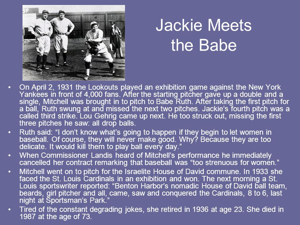 Jackie Meets the Babe