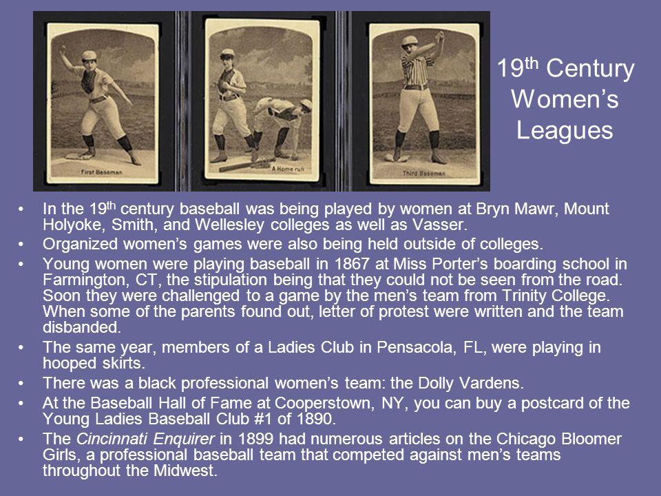 19th Century Women's Leagues