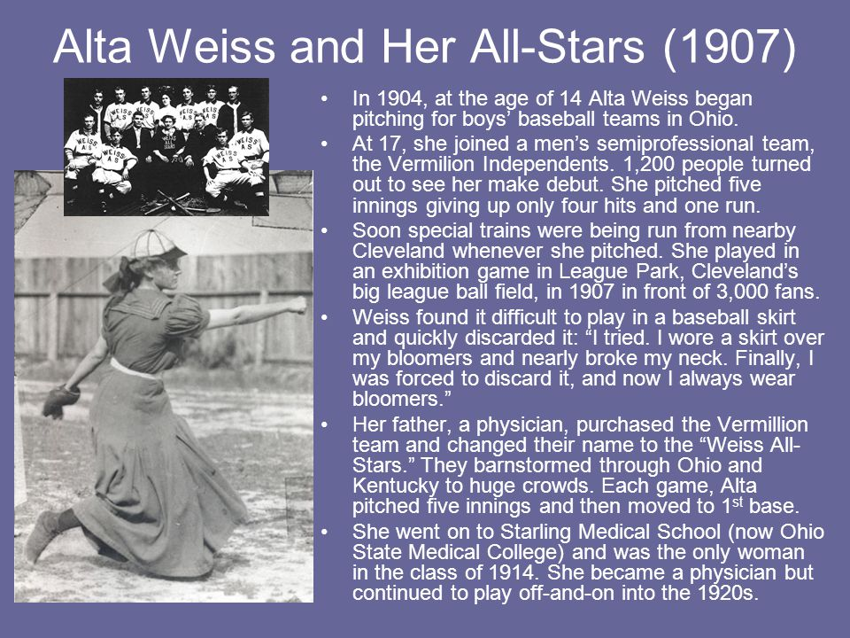 Alta Weiss and Her All-Stars (1907)