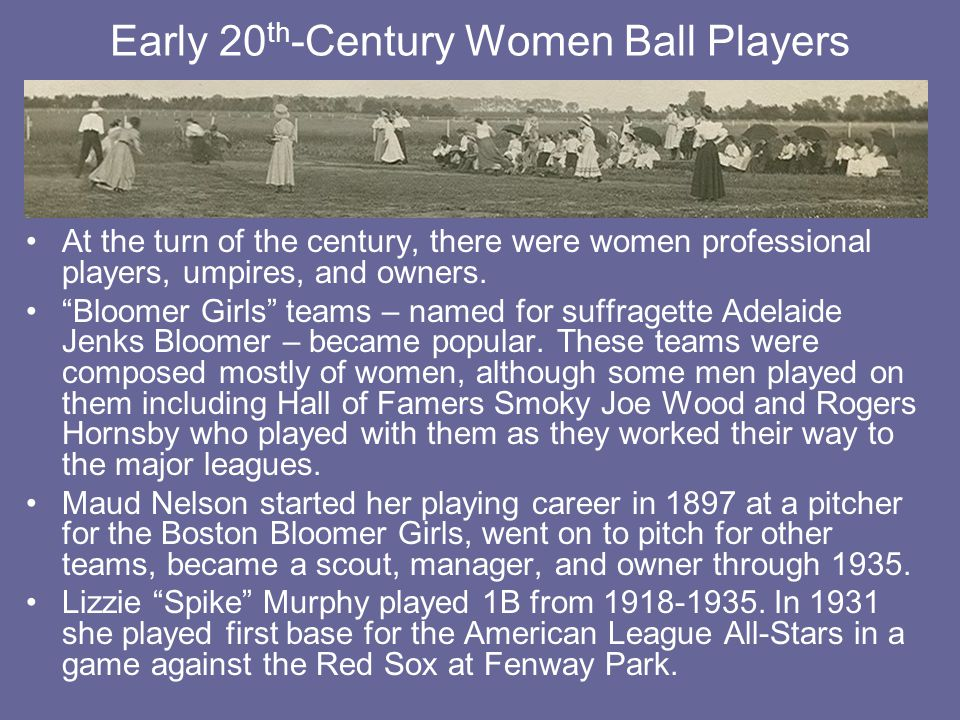 Early 20th-Century Women Ball Players
