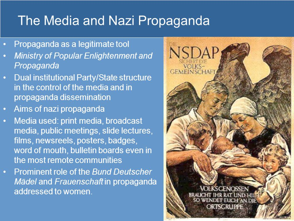The Media and Nazi Propaganda