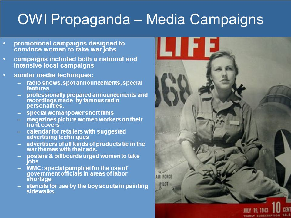 OWI Propaganda – Media Campaigns