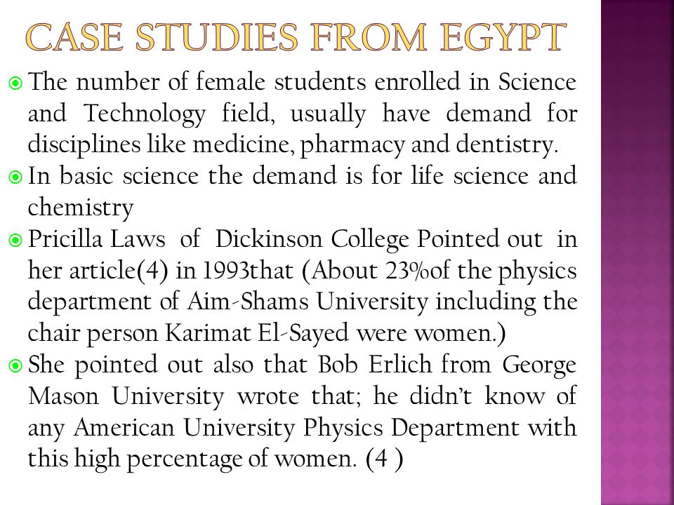 Case Studies From Egypt