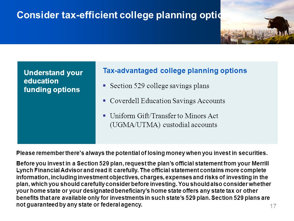 Consider tax-efficient college planning options