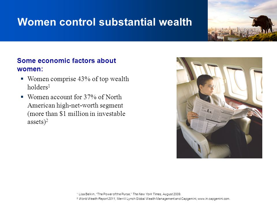 Women control substantial wealth