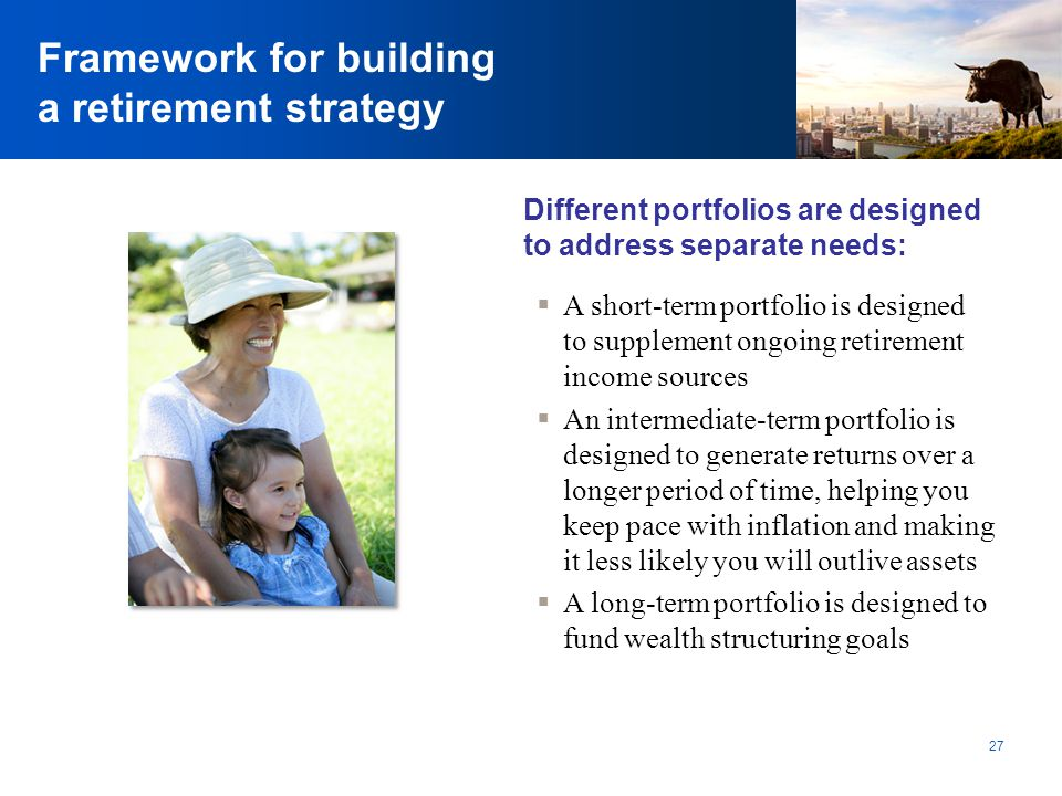 Framework for building a retirement strategy