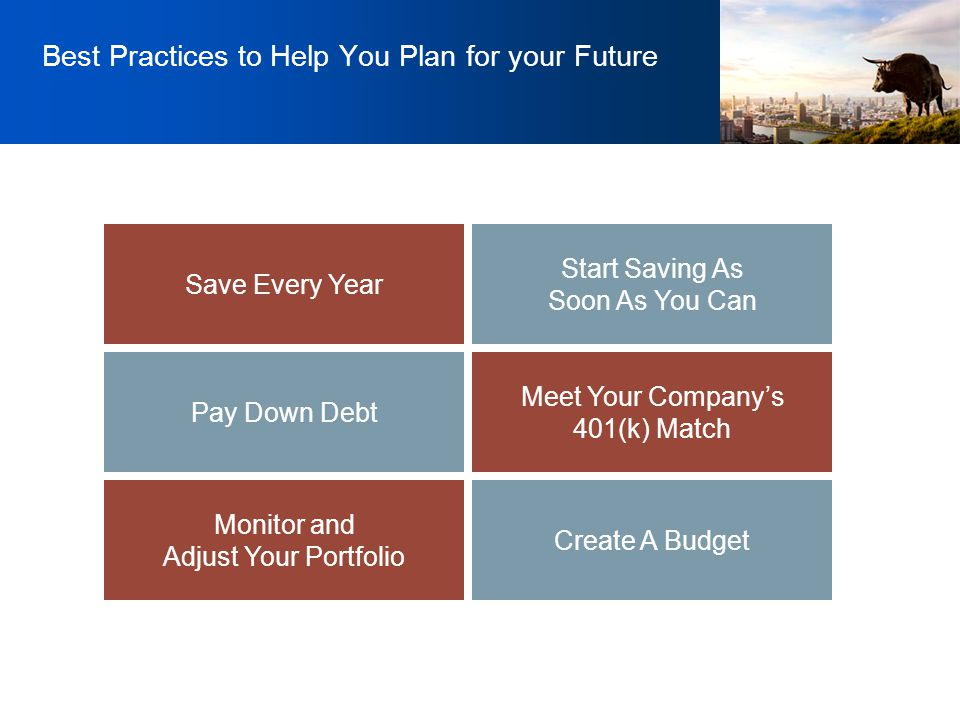 Best Practices to Help You Plan for your Future