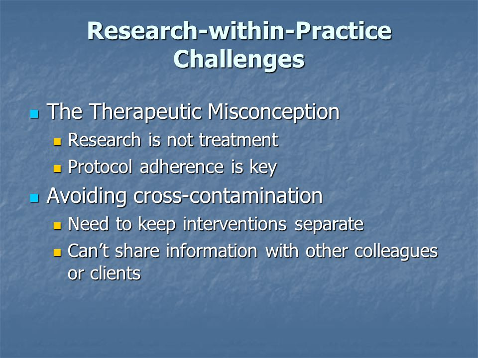 Research-within-Practice Challenges