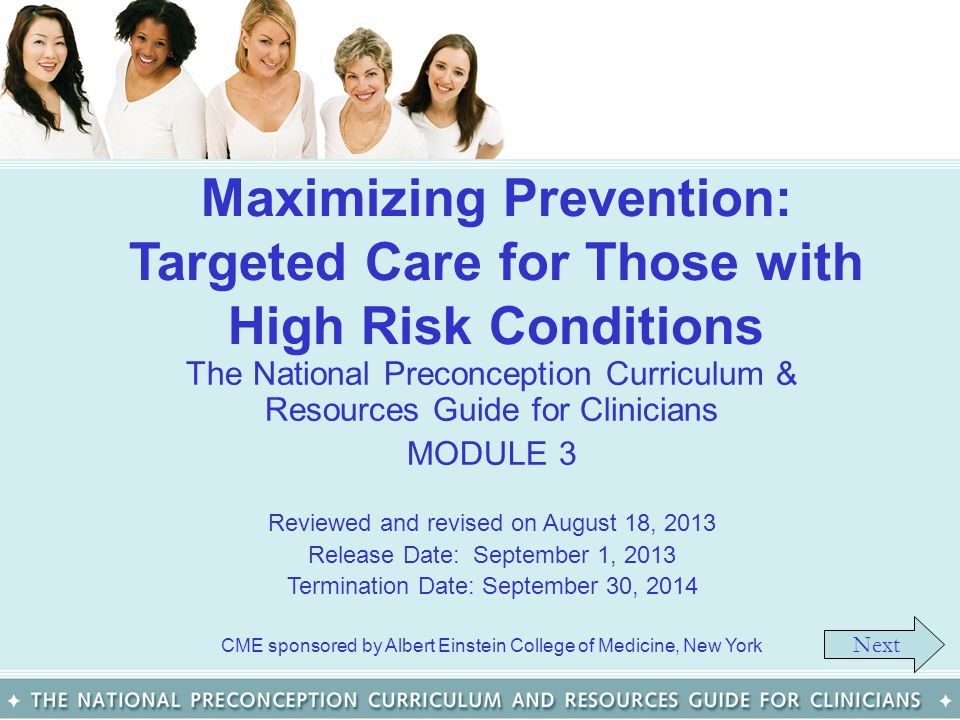 Maximizing Prevention: Targeted Care for Those with High Risk Conditions