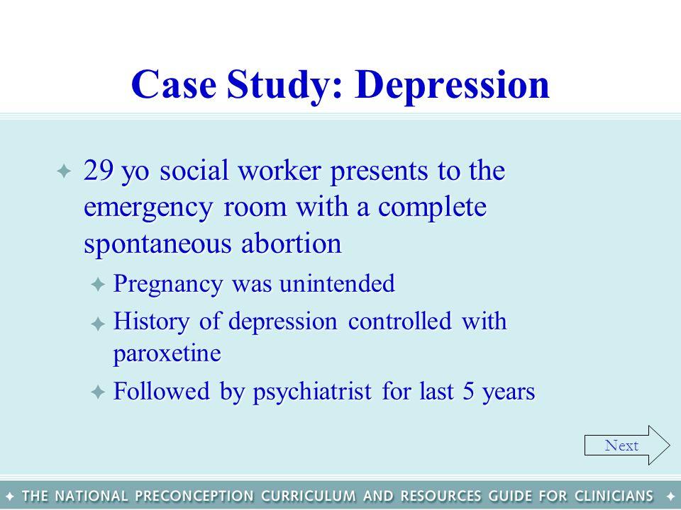 Case Study: Depression