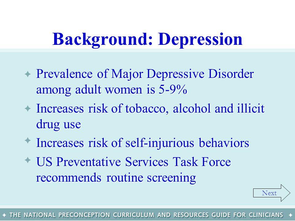 Background: Depression