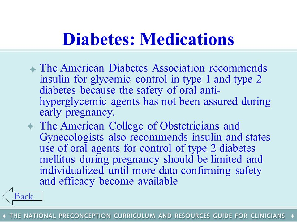 Diabetes: Medications