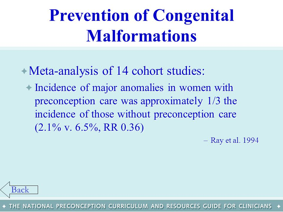 Prevention of Congenital Malformations