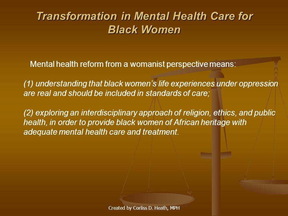 Transformation in Mental Health Care for Black Women
