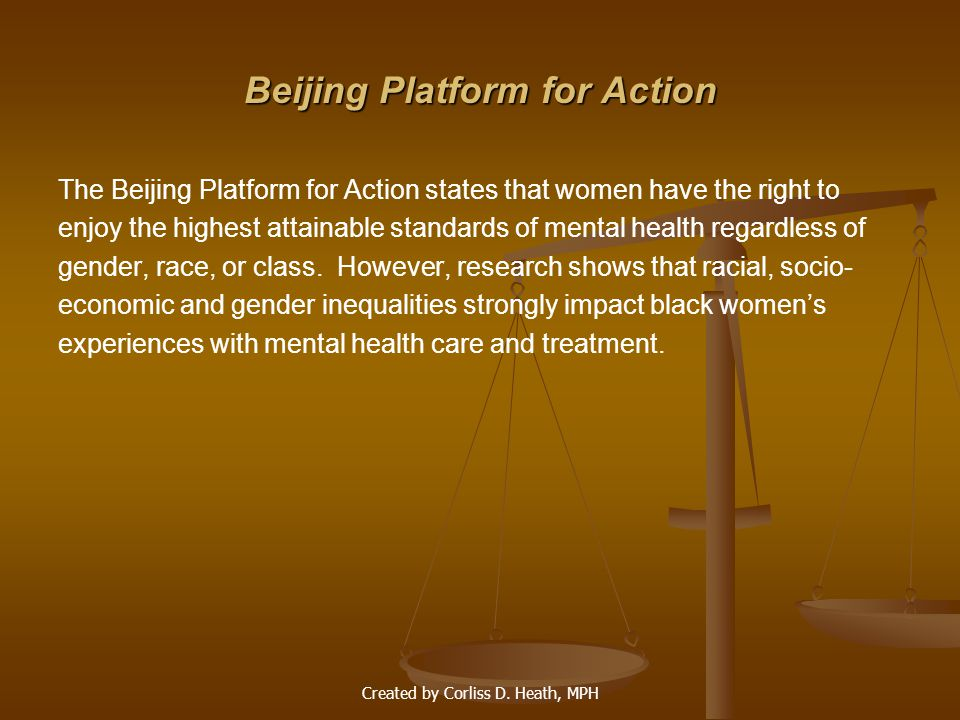 Beijing Platform for Action