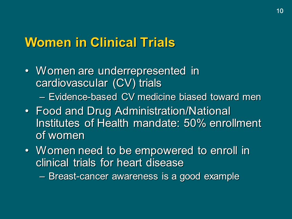 Women in Clinical Trials