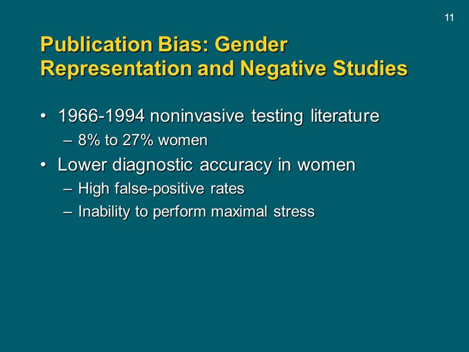 Publication Bias: Gender Representation and Negative Studies
