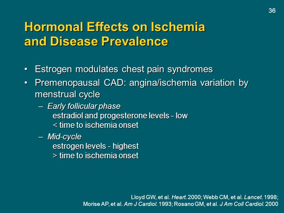 Hormonal Effects on Ischemia and Disease Prevalence