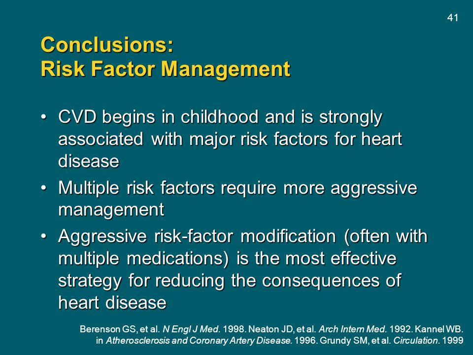 Conclusions: Risk Factor Management