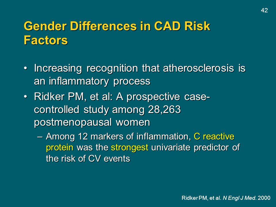 Gender Differences in CAD Risk Factors