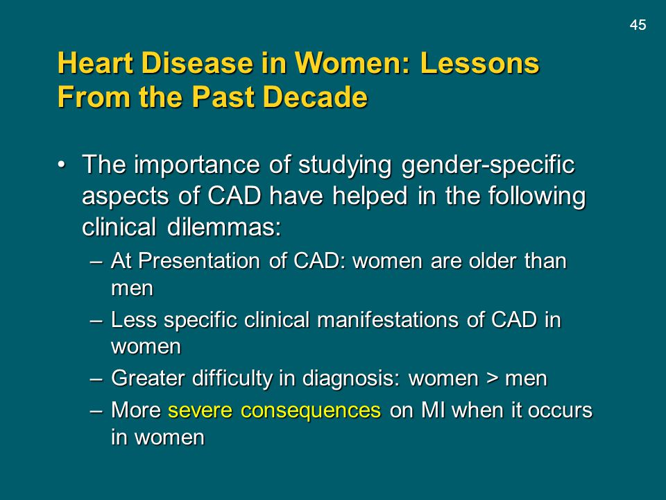Heart Disease in Women: Lessons From the Past Decade