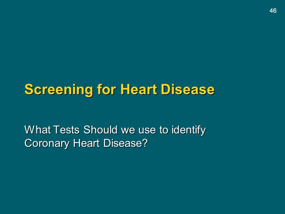 Screening for Heart Disease