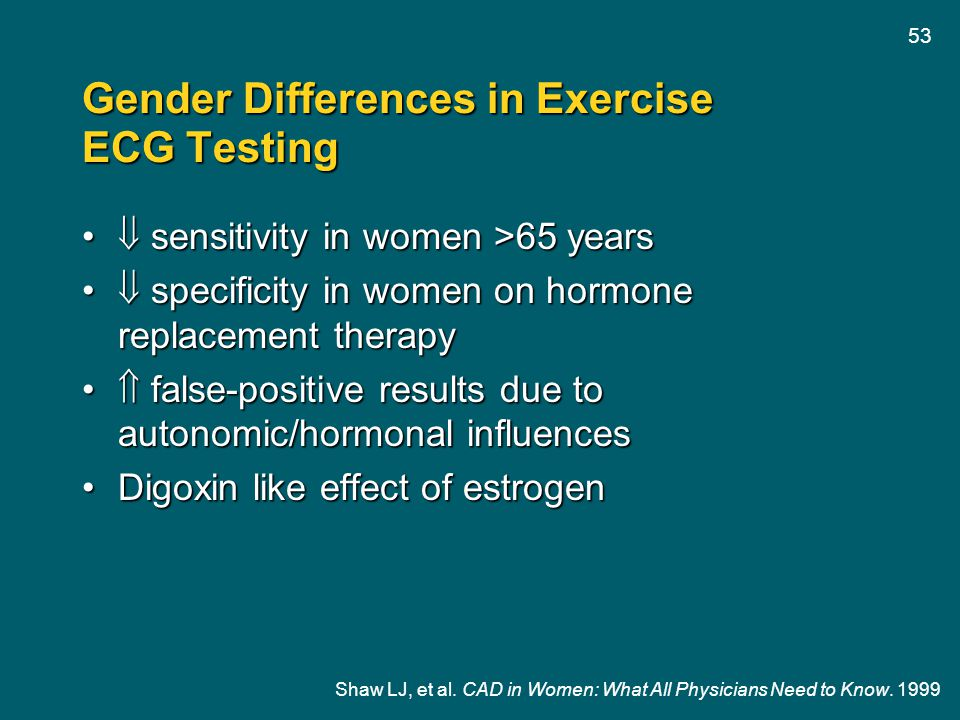 Gender Differences in Exercise ECG Testing
