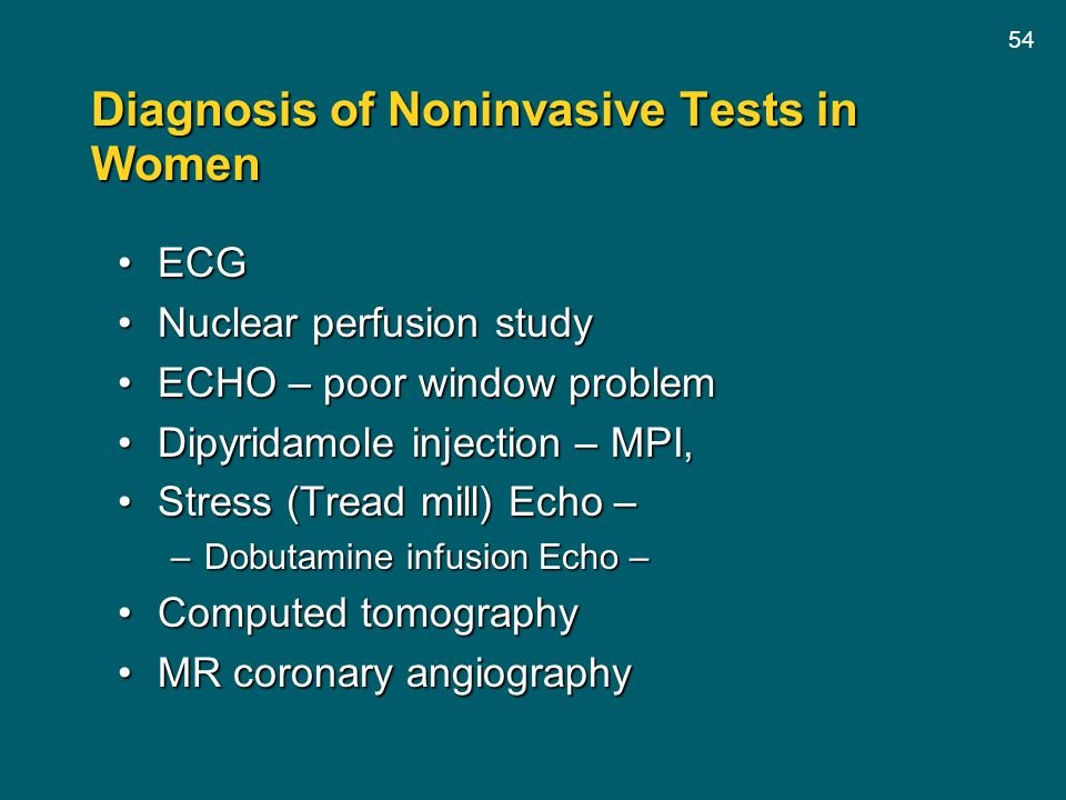 Diagnosis of Noninvasive Tests in Women