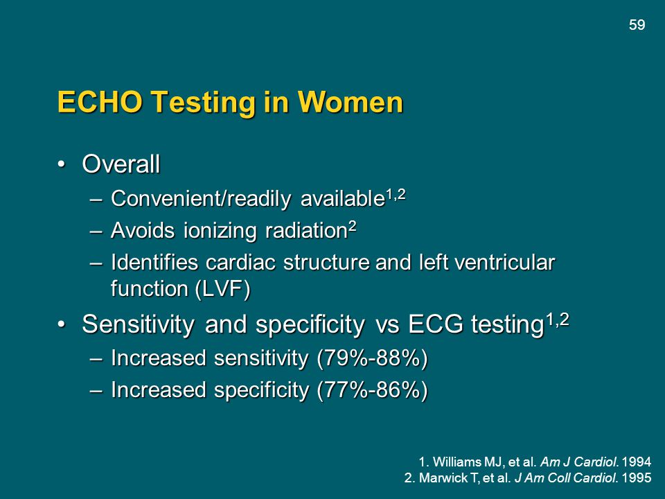 ECHO Testing in Women Overall