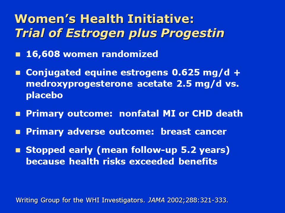 Women's Health Initiative: Trial of Estrogen plus Progestin
