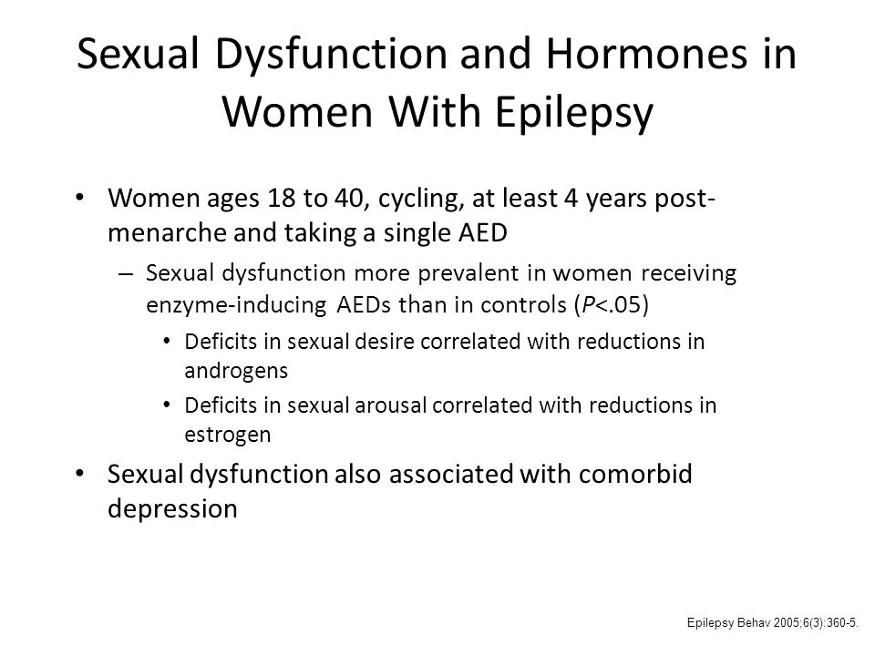 Sexual Dysfunction and Hormones in Women With Epilepsy
