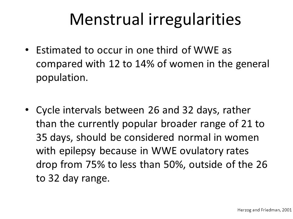 Menstrual irregularities