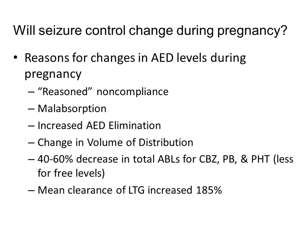Will seizure control change during pregnancy