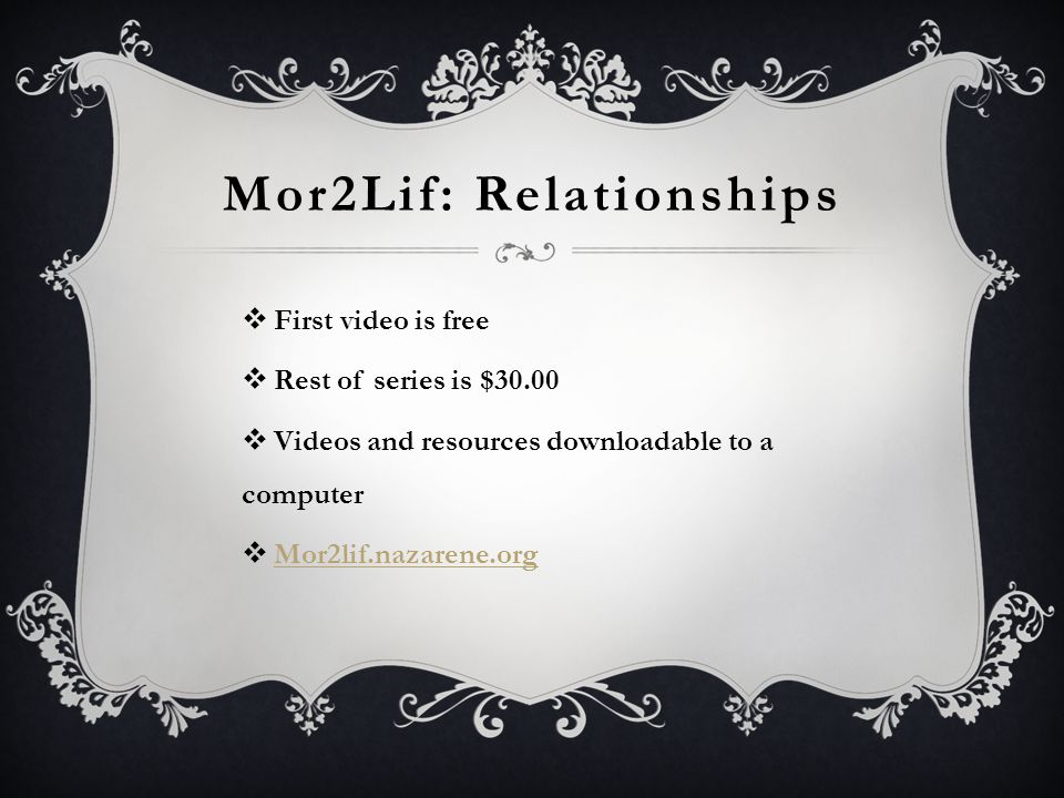 Mor2Lif: Relationships