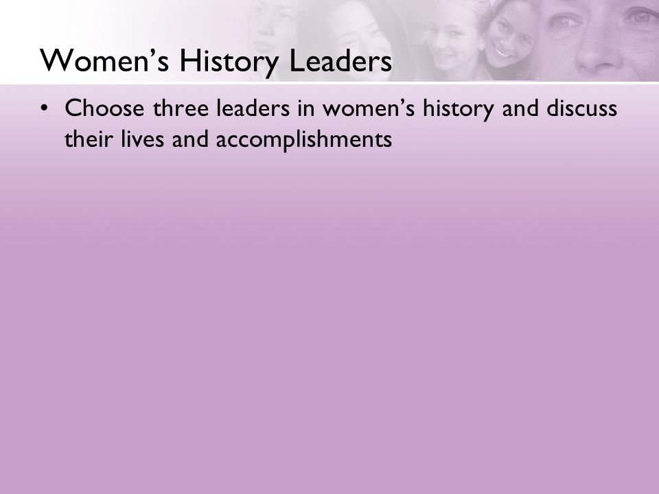 Women's History Leaders