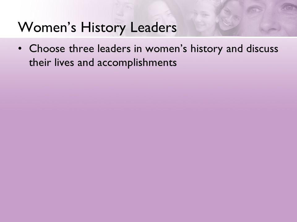 Women's History Leaders