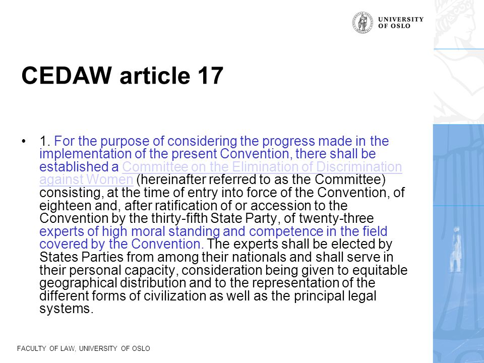 CEDAW article 17