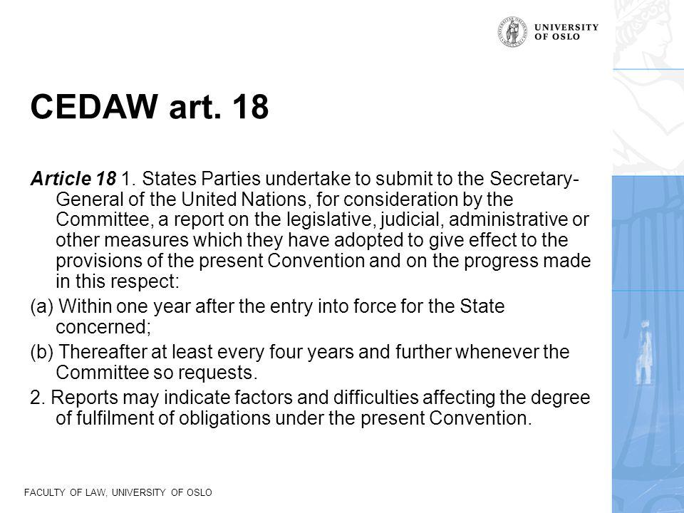 CEDAW art. 18