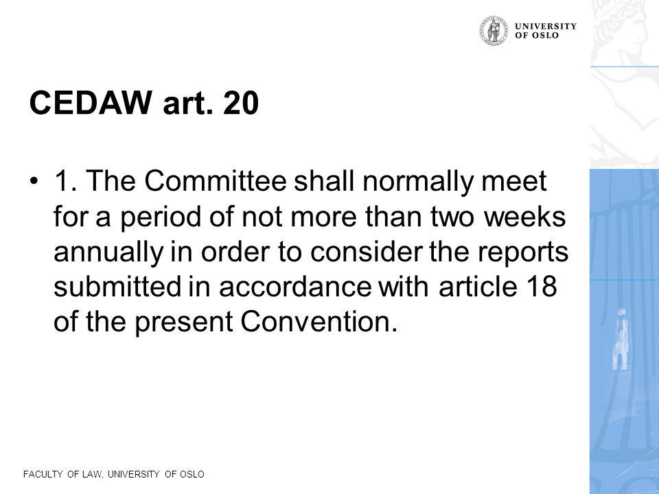 CEDAW art. 20