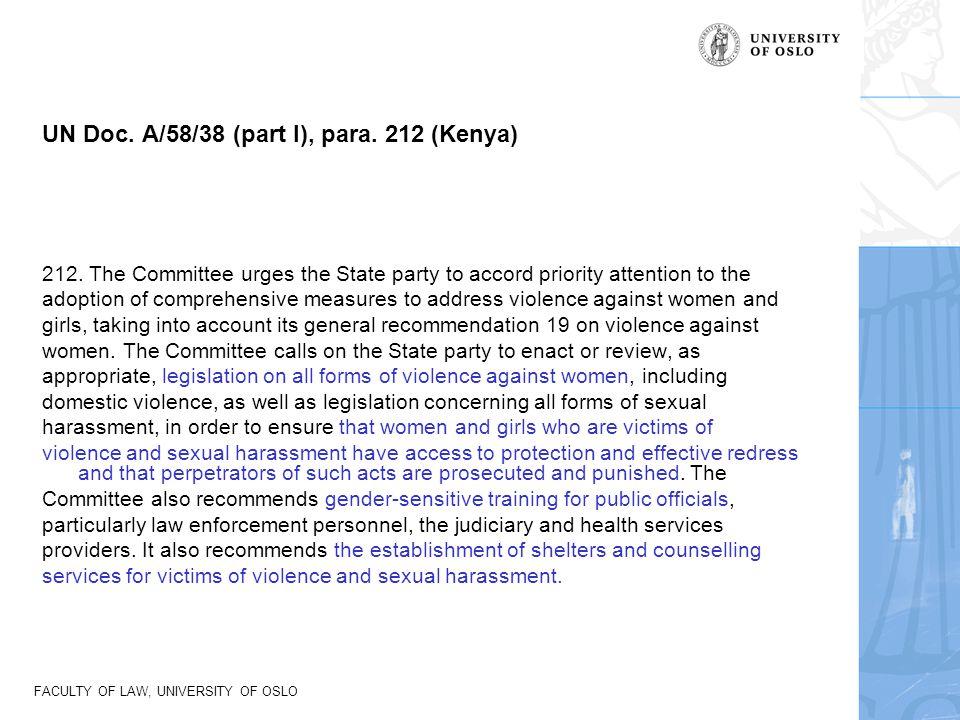 UN Doc. A/58/38 (part I), para. 212 (Kenya)