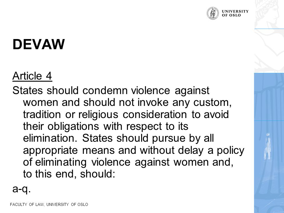 DEVAW Article 4.