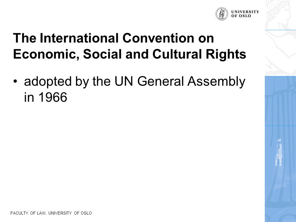 The International Convention on Economic, Social and Cultural Rights