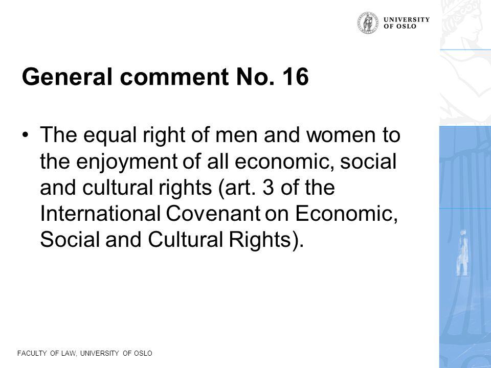 General comment No. 16