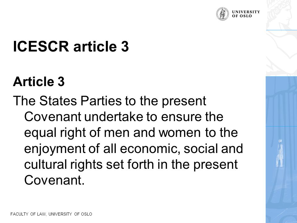 ICESCR article 3 Article 3