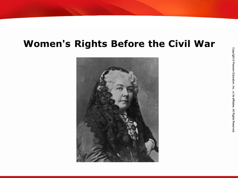 Women s Rights Before the Civil War